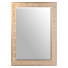 Embossed Shell Wall Mirror, 24x36