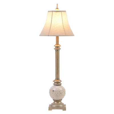 Neutral Ceramic Buffet Lamp