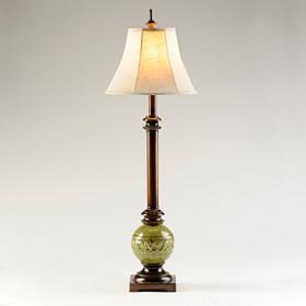 Olive Ceramic Buffet Lamp