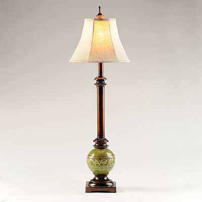 Olive Ceramic Buffet Lamp