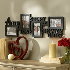 Love Story 4-Opening Collage Frame