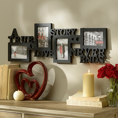 love story 4 opening collage frame - Valentines Day Decor