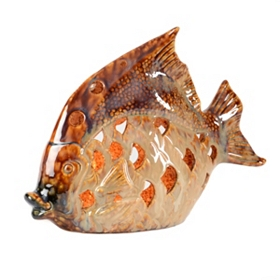 Glazed Ceramic Fish Night Light