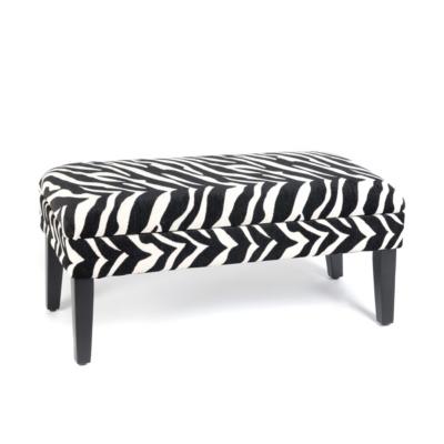 Zebra Print Storage Bench