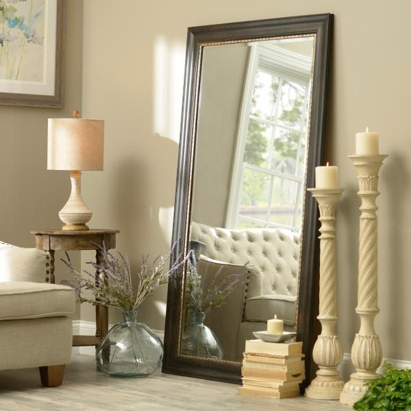 38x36 inch Black Full Length Mirror