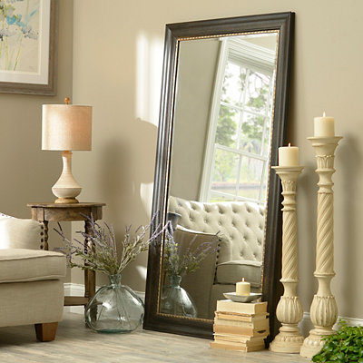 Black Full Length Mirror, 38x68 in.