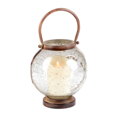 Pebble Glass Lantern, 8 in.