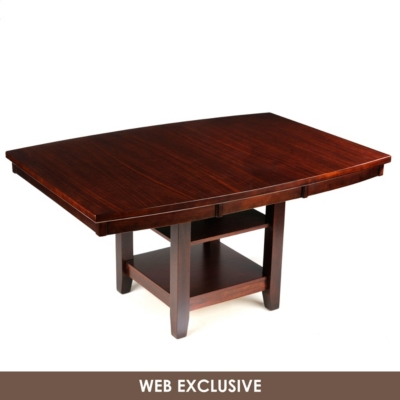 Espresso Bradley Dining Table with Shelves