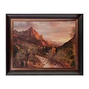 Zion Watchman Sunset Framed Art Print