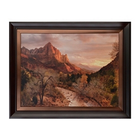 Zion Watchman Sunset Framed Art Print