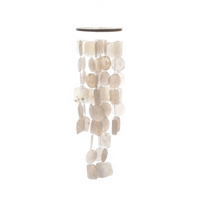 White Capiz Shell Wind Chime