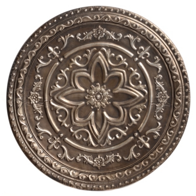 Silver Rosette Metal Wall Art
