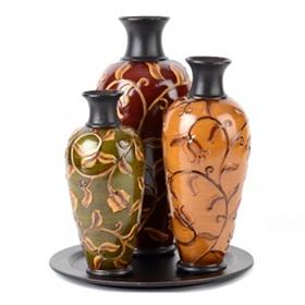 Floral Garden Vase, Set of 3