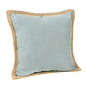 Blue Jute Linen Pillow