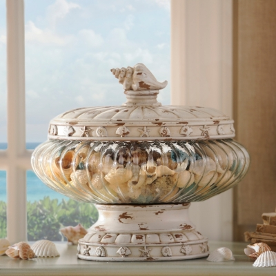 Coastal Oblong Potpourri Jar