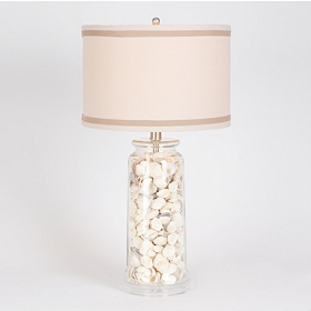 Sea Shell Glass Table Lamp