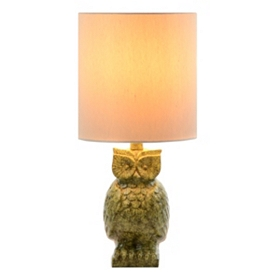 Green Owl Table Lamp