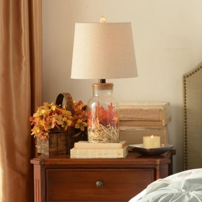 Glass Jar Table Lamp