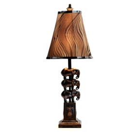 Stacked Elephants Table Lamp