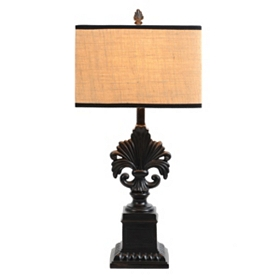 Black Fleur-de-Lis Table Lamp
