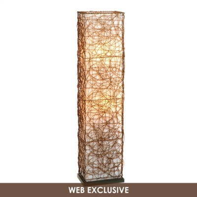 Wired Wicker Floor Lamp