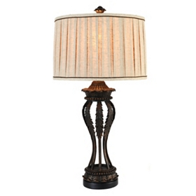 Rustic Gold Leaf Table Lamp