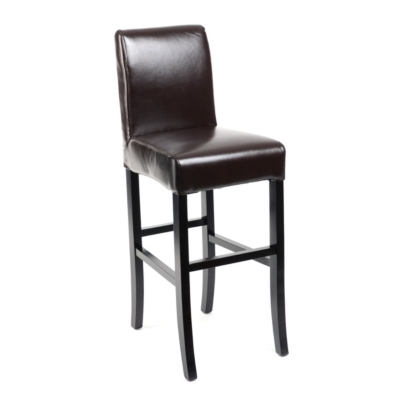 Chocolate Bonded Leather Bar Stool