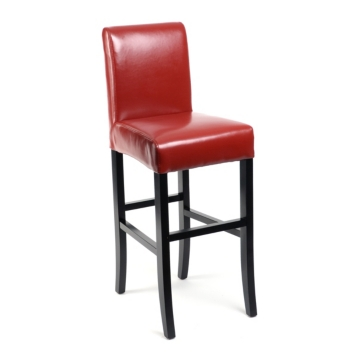Red Bonded Leather Bar Stool Kirklands