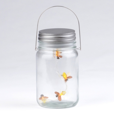Hanging LED Firefly Jar