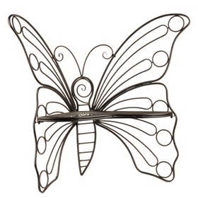 Black Butterfly Metal Patio Chair