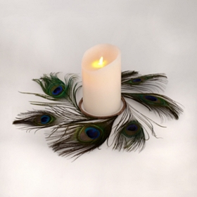 Peacock Feather Candle Ring