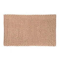 Taupe Plush Bubble Bath Mat