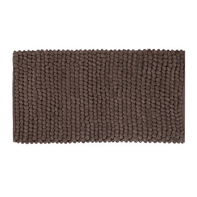 Chocolate Plush Bubble Bath Mat