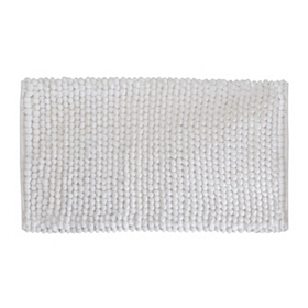 White Plush Bubble Bath Mat