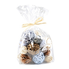 Blue & Brown Natural Dried Orb Set