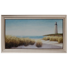 Lighthouse By The Sea Framed Art Print