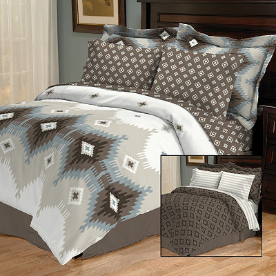 Devon Cocoa 8-pc. King Reversible Bedding Set