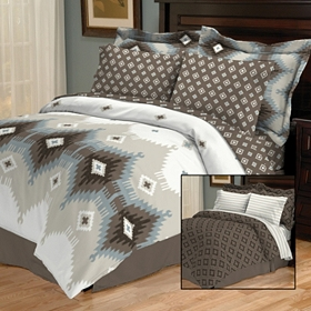 Devon Cocoa 8-pc. Queen Reversible Bedding Set