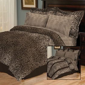 Hariza Brown 8-pc. Reversible King Bedding Set