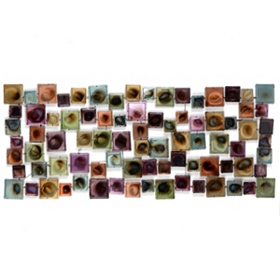 Rhythmic Squares Metal Wall Art