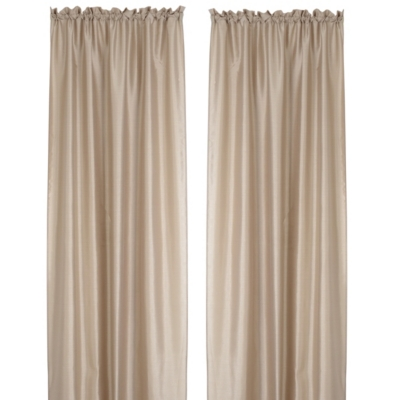 Turin Taupe Curtain Panel, Set of 2