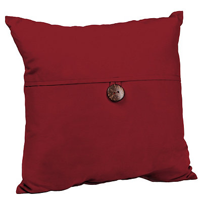 Red Coconut Button Outdoor Pillow
