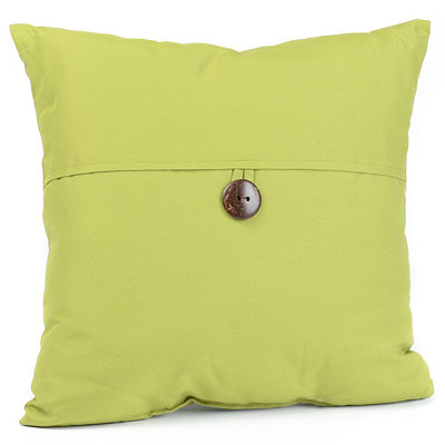 Green Coconut Button Outdoor Pillow