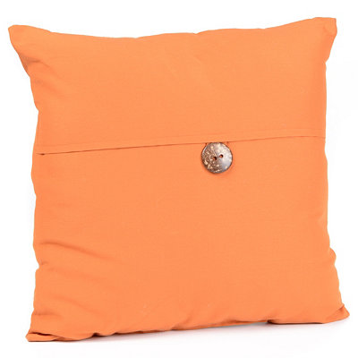 Orange Coconut Button Outdoor Pillow