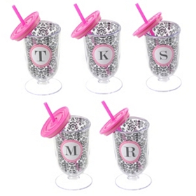 Footed Monogram Tumbler