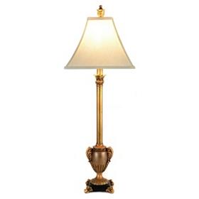 Gold Urn Buffet Lamp