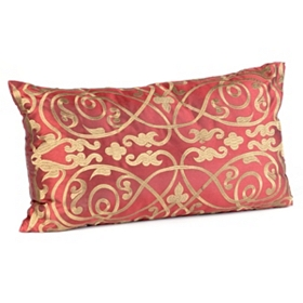 Louis Red & Gold Pillow