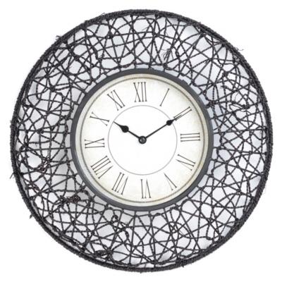 Cocoa Rattan Clock