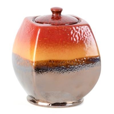 Red & Brown Ceramic Fire Pot