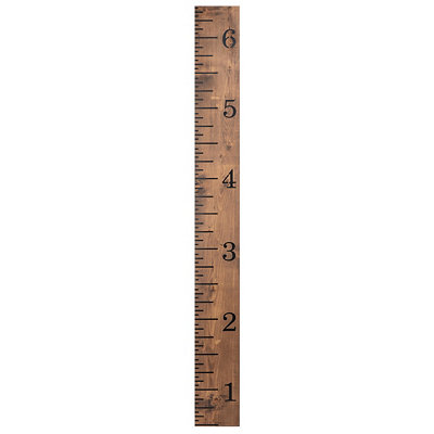 Oversized Ruler Wood Wall Plaque